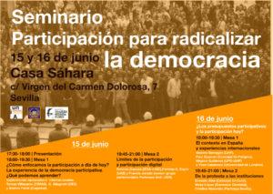 Programa Seminario Participación para radicalizar la democracia